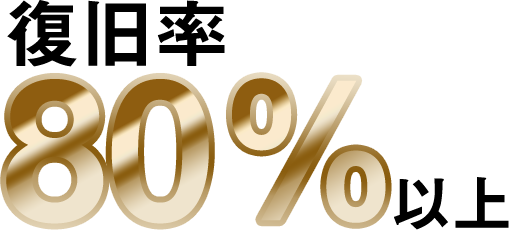 80%の復旧率